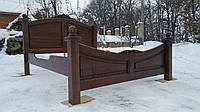 Двуспальная кровать, Деревянная кровать, Резная кровать.