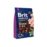 Сухой корм Brit Premium Adult S для взрослых собак мелких пород со вкусом курицы 3 кг