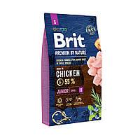 Сухой корм Brit Premium Junior S для щенков и молодых собак мелких пород со вкусом курицы 8 кг