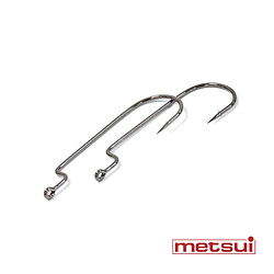 Крючки metsui OFFSET ROUND WORM цвет bln, размер № 1/0, в уп. 6 шт.