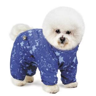Комбинезон для собак «Норд» синий XS