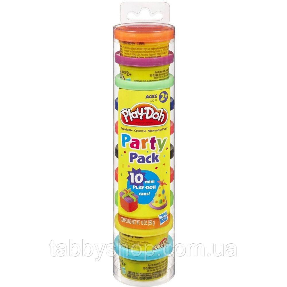 Набор пластилина для праздника из 10 мини-баночек HASBRO Play Doh