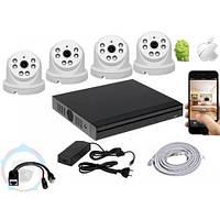 Комплект видеонаблюдения UDC IP-Kit1.4 . Комплект видеонаблюдения на 4 камеры для дома, офиса и дачи
