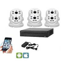 Комплект видеонаблюдения UDC IP-Kit1.6 . Комплект видеонаблюдения на 6 камер для дома, офиса и дачи