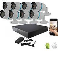 Комплект видеонаблюдения IP 1MP UDC IP-KIT1.8S. Комплект на 8 камер