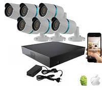 Комплект видеонаблюдения IP 2MP UDC IP-KIT 2.6S Набор на 6 камер