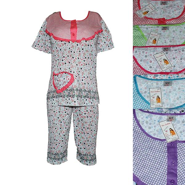 0236f194b135 Купить Женская котоновая пижама QT3-1 оптом со склада в Одессе на ...