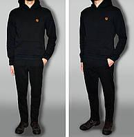 Трикотажный спортивный костюм теплый цвет черный ткань турция 7285f452ccb59