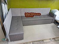 Диван угловой для узкой кухни с ящиком + спальным местом 1800х2400мм