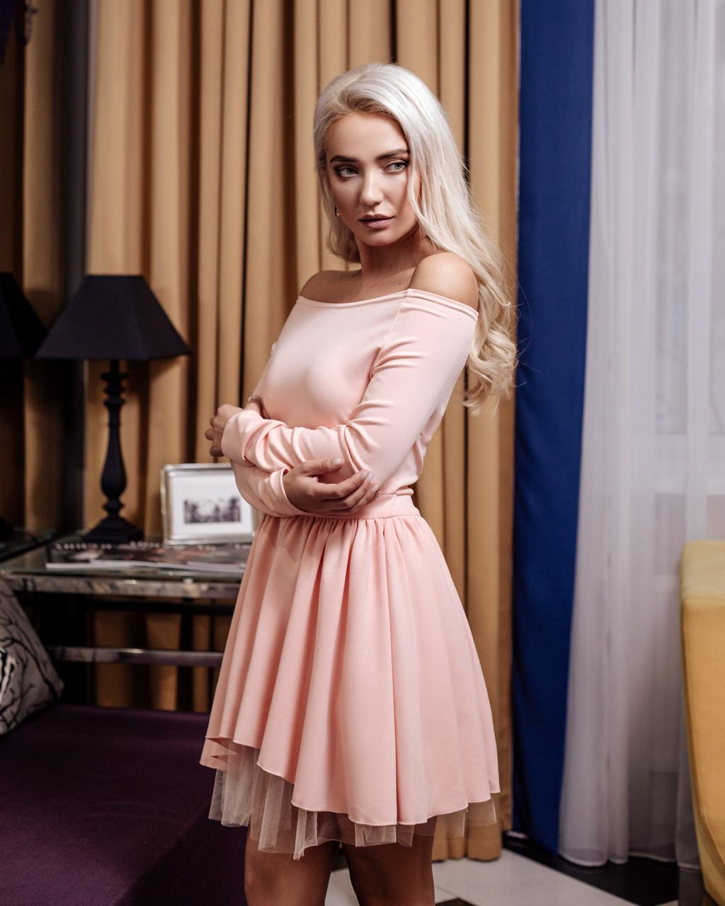 98331b24745f866 Платье Vikifo Каролина s-m пудровое (п 262), цена 740 грн., купить в ...