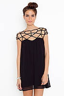 Платье сетка, короткое платье, черное платье, плаття