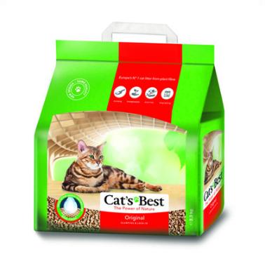 Наповнювач для котячого туалету cat's Best Original деревне комкующийся 8.6 кг