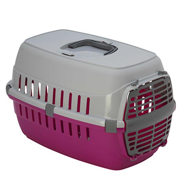 Переноска для собак и кошек Moderna Road Runner 1 пластиковая дверь, 51х31х34 см розовая