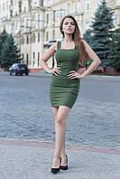 Платье Vikifo Линда s-m хаки (п 229)