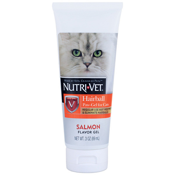 Гель Nutri-Vet Hairball Paw-Gel для кішок, виведення грудочок вовни, 89 мл