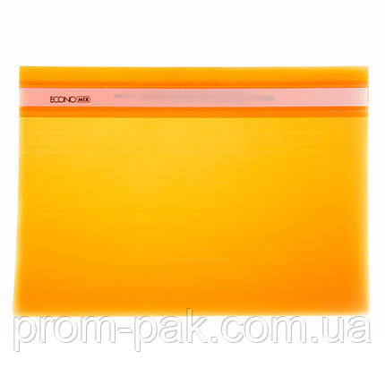 Скоросшиватель  Economix  31511 оранжевый, фото 2