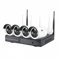 Комплект видеонаблюдения  наружний Partizan Outdoor Wireless Kit 2MP 4xIP WI-FI