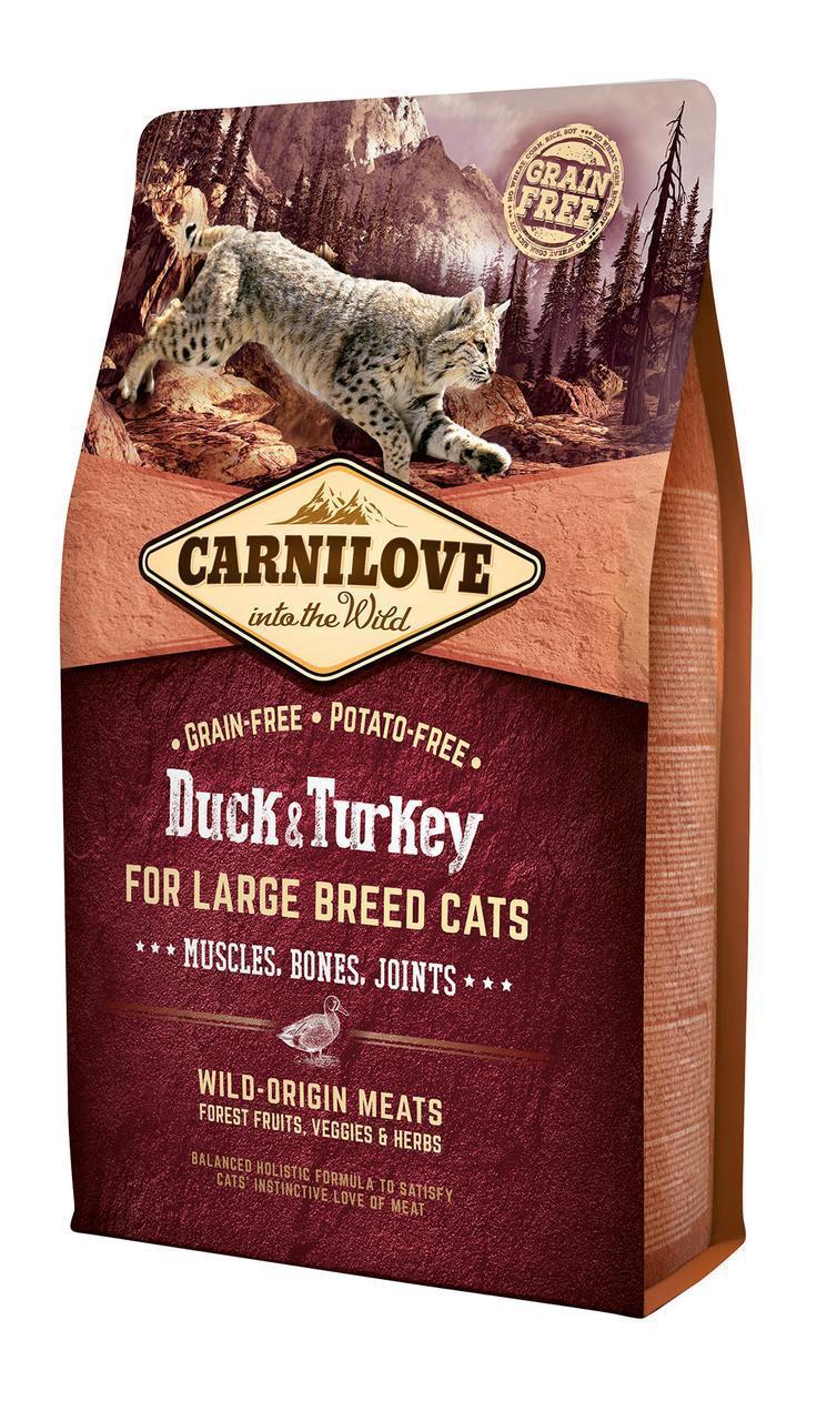 Carnilove Duck & Turkey Large Breed корм для кошек крупных пород, утка и индейка, 2 кг