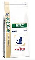 Сухой лечебный корм Royal Canin OBESITY FELINE Роял Канин для кошек при избыточном весе 400 гр