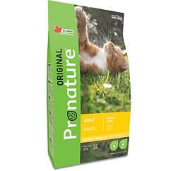 Pronature Original Cat Chiсken корм для взрослых кошек с курицей 0.34кг