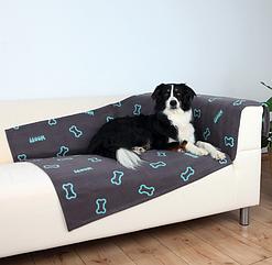 Коврик для собак Trixie Barney Blanket флисовый 150х100 см темно-серый (37185)
