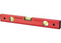 Рівень алюмінієвий, 800 мм, 3 вічка, червоний, лінійка // MTX 332269