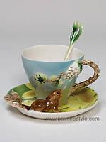 Фарфоровая чайная пара Белочка (Pavone)