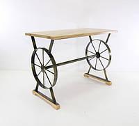 Лавка кованая колесо
