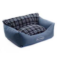 Лежак Природа Деми, флис и сумочная ткань, 66х52х24 см