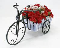 Кованная подставка для цветов Велосипед 1 малый