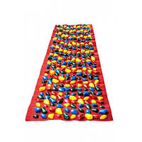 Коврик-дорожка массажный с цветными  камнями  (150*40 см)  детский MS-1262