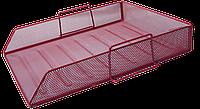 Лоток для паперу BUROMAX, червоний, 335х275х78 мм (BM.6254-05)