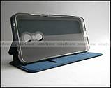 Синий оригинальный чехол книжка Xiaomi Redmi 5 Plus Mofi Vintage Classical+ Smart cover, фото 6