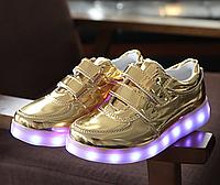 3 цвета Детские светящиеся LED кроссовки с подсветкой подошва мигающие USB зарядка кабель, фото 1