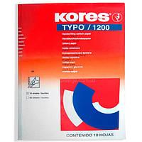 Папір копіювальний А4 Kores 1200, 10 арк., синій (K79086)