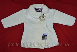 Детская зимняя шуба Fur кремовая для девочек (1-5 лет) (PETİTO Club, Турция)