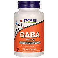ГАБА / GABA / ГАМК (гамма-аміномасляна кислота), 750 мг 100 капсул