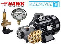 Аппарат высокого давления Помпа Hawk NMT 1520R+ двигатель Samec 5.5 кВт + By-pass VRT 3+ манометр