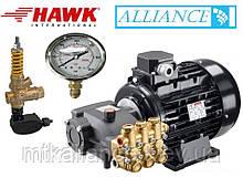 Апарат високого тиску Помпа Hawk NMT 1520R+ двигун Samec 5.5 кВт + By-pass VRT 3+ манометр