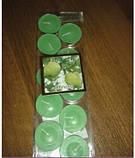 Набор цветных свечей таблетка 10 шт (чайные, плавающие) красный, фото 3