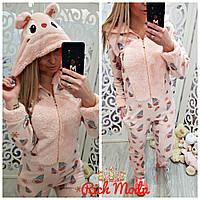 Пижама женская, кигуруми мишка! Хит сезона!!! Турция розовая в мороженко