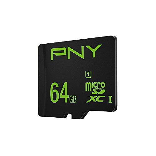 Карта памяти PNY MicroSDXC 64GB Class 10 UHS-1 U1 (SDU64GHIGPER-1-EF)