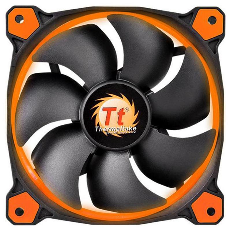 Вентилятор Thermaltake Riing 12 LED Orange (CL-F038-PL12OR-A), 120х120х25 мм, 3pin, черный