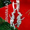Серьги Ведьма серебряные - Ведьма серебряные серьги  - Серьги Ведьмочка на метле серебро, фото 5