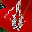 Серьги Ведьма серебряные - Ведьма серебряные серьги  - Серьги Ведьмочка на метле серебро, фото 4