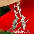Серьги Ведьма серебряные - Ведьма серебряные серьги  - Серьги Ведьмочка на метле серебро, фото 3