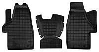 Коврики в салон Vw Transporter T5 (1+1) с 2003 - черные, полиуретановые (Avto-Gumm, 11330) - комплект (2 шт.) + перемычка