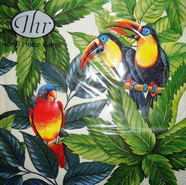 Салфетки с птицами Попугаи 2861