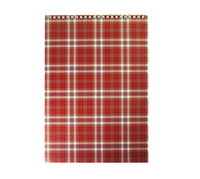 "Блокнот А4, Buromax ""Shotlandka"", 48 арк.,картон. обкл., 55г/м2,бордовий(BM.2460-13)"