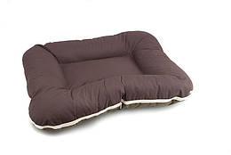 Лежак Comfy Arnold L двусторонний коричнево-бежевый, 70x55 см